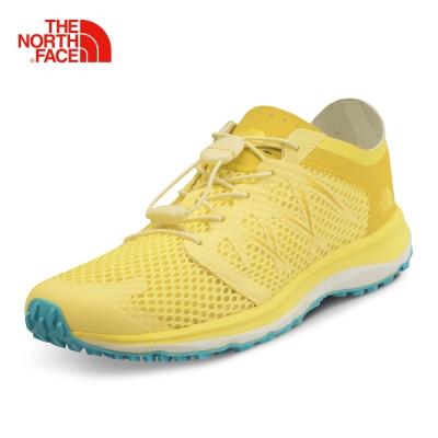 The North Face女款黃色抓地耐磨徒步鞋