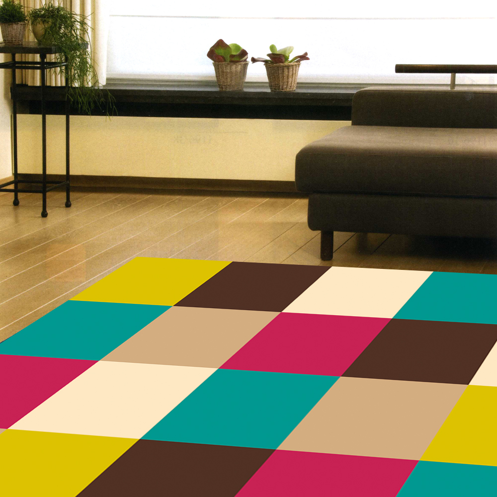 范登伯格 - 曳光 進口地毯 - 多彩方格 (中款 - 160 x 225cm)