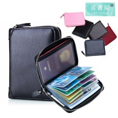 玩皮工坊-牛皮40卡位可裝護照證件卡片包-CB132