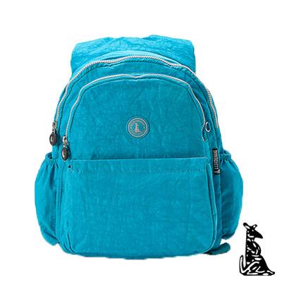 冰山袋鼠-休閒系舒適平肩背輕盈款後背包-湖水藍