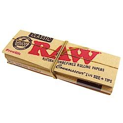 RAW CLASSIC CONNOISSEUR 1 1/4-捲煙紙+自捲式紙濾嘴*3包
