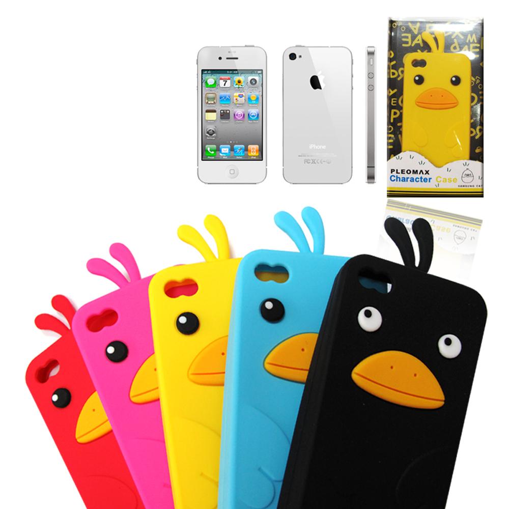 iPhone 4S 韓系可愛立體鴨子保護殼
