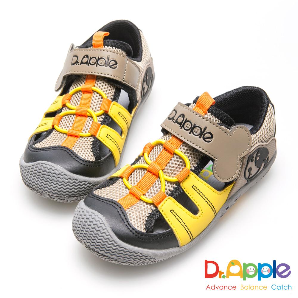 Dr. Apple 機能童鞋 狗骨頭玩樂青春涼童鞋-黃