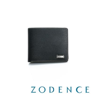 ZODENCE-MAN-紳士系列兩折短夾-黑