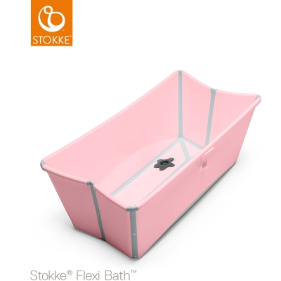 奇哥 STOKKE Flexi Bath 摺疊式浴盆-粉紅