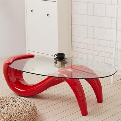 Bed Maker-S曲線 玻璃造型茶几(三色)