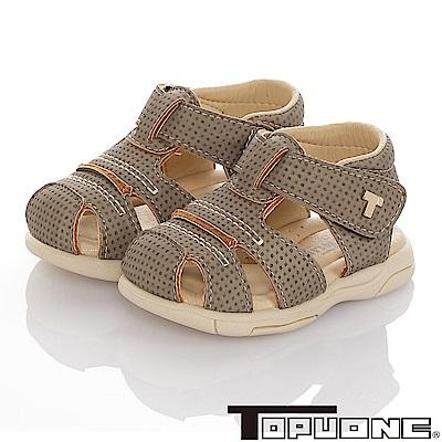 TOPUONE 傳統手工鞋高級超纖皮革防滑學步涼鞋童鞋-綠
