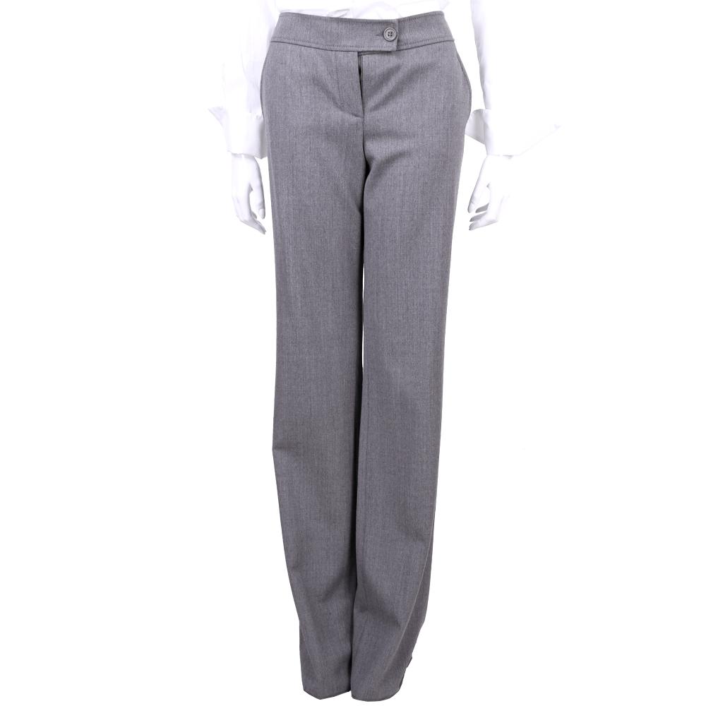 VALENTINO 灰色羊毛材質西裝褲