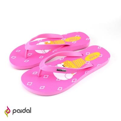 Paidal甜筒貓足弓夾腳拖鞋-草莓粉