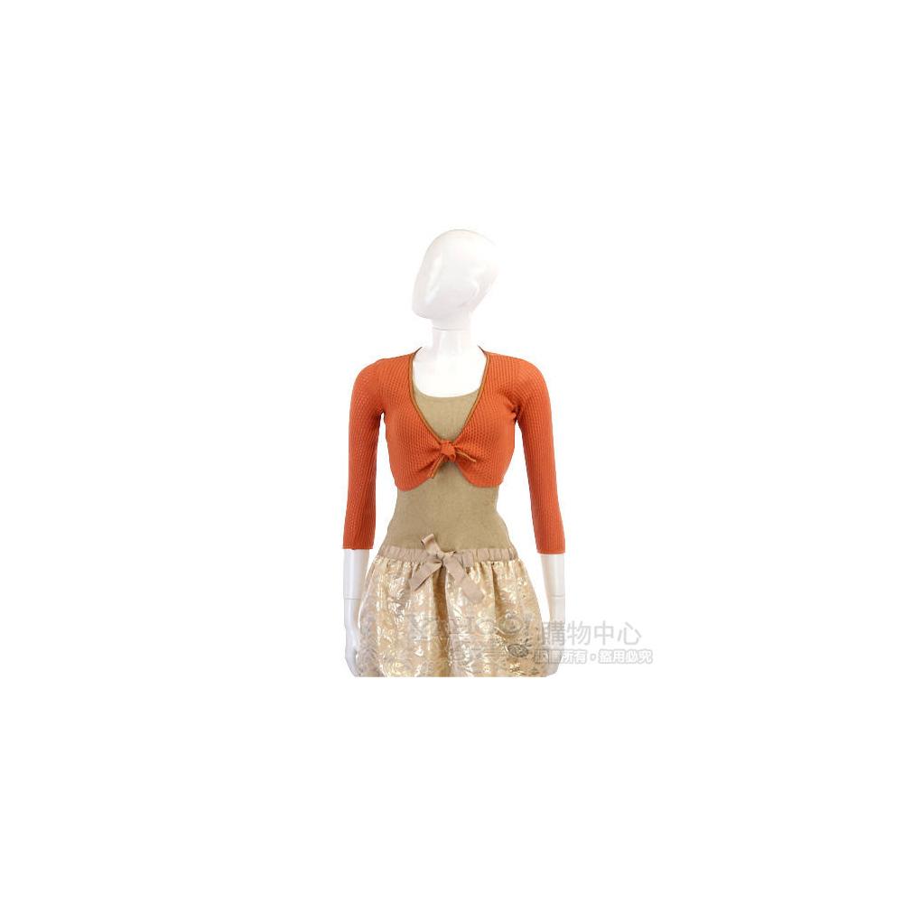 Kristina Ti 橘色針織小外套