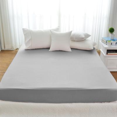 Cozy inn 極致純色-淺灰-300織精梳棉床包(特大)