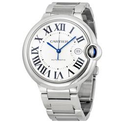 Cartier 卡地亞 藍氣球時尚精鋼鍊帶錶-42mm