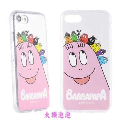BARBAPAPA泡泡先生iPhone 8/7(4.7吋)空壓保護套-大頭泡泡