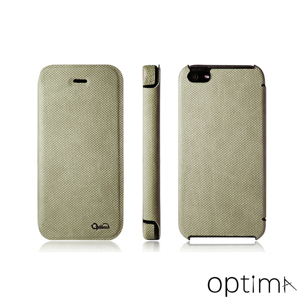 Optima iPhone5/5S/SE義大利針織系列側掀皮套