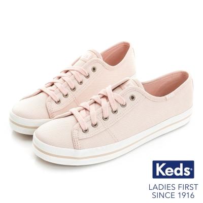 Keds 閃耀之星綁帶休閒鞋-粉紅