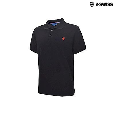 K-Swiss Polo Shirts短袖POLO衫-男-黑