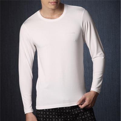 【Pierre Cardin皮爾卡登】發熱圓領保暖衣 (白)