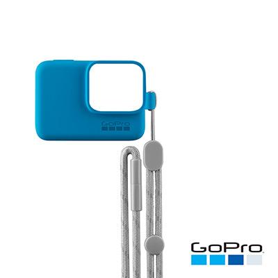 GoPro-HERO/5/6專用矽膠護套+繫繩 藍色ACSST-003