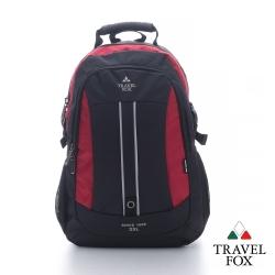 Travel Fox旅狐包 撞色尼龍輕量休閒後背包 - 四色