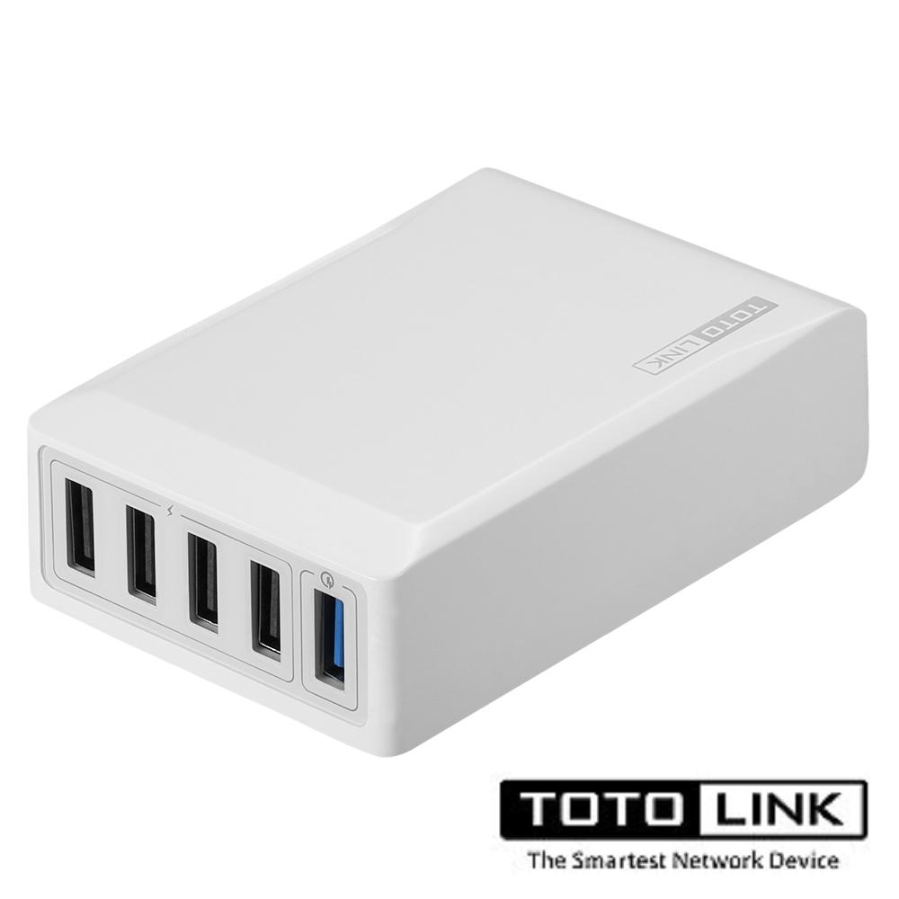 TOTOLINK QC3.0 1+4埠閃充充電器UP405-QC1