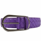 BOTTEGA VENETA小羊皮編織經典樣式皮帶(紫)