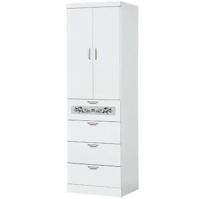 Bernice-2尺白色四抽衣櫃-60x56x198cm