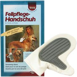 德國TRIXIE 寵物矽膠梳頭針梳皮製防水耐磨手套