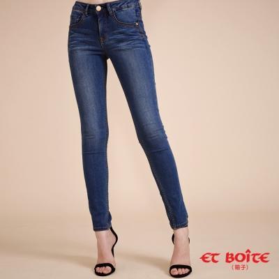 ETBOITE 箱子 BLUE WAY 全方位美型計畫-高腰超包覆彈力直筒褲-淺藍