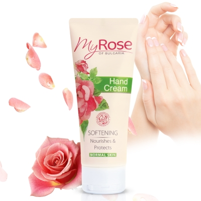 保加利亞My rose 玫瑰保濕透白護手霜75ml