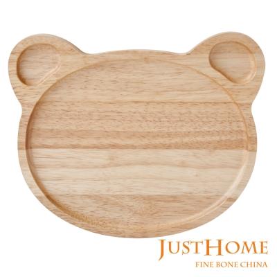 Just Home 小熊造型橡膠木餐盤(台灣製)