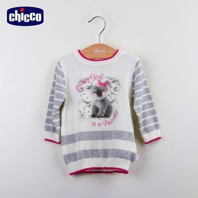 chicco針織條紋洋裝-米白(12m-24m)
