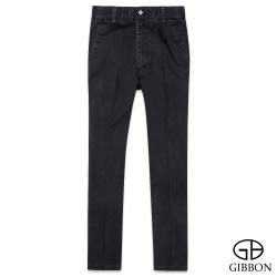 GIBBON 休閒彈力純色直筒褲‧黑灰色30~42