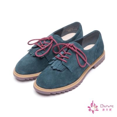 達芙妮DAPHNE-英倫風尚流蘇綴飾綁帶休閒鞋-個