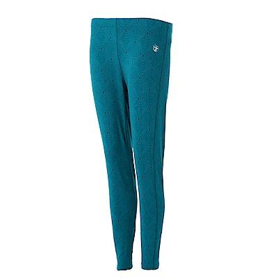 【Wildland 荒野】女彈性時尚印花內搭褲綠藍