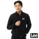 Lee-羽絨外套-小立領菱格車線-男款-黑