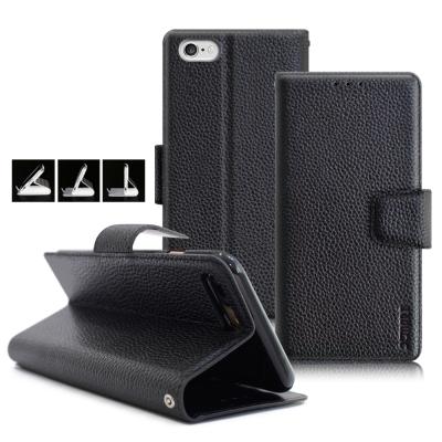 XM iPhone 6 Plus / 6s Plus 5.5吋 品味時尚牛皮支架皮套