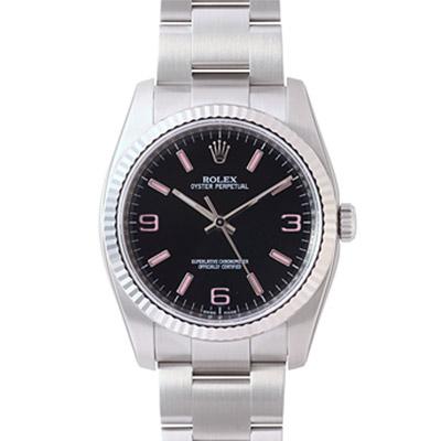 ROLEX 勞力士 Oyster Perpetual 116034 蠔式恆動腕錶-黑/36mm