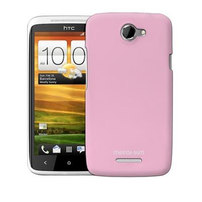 Metal-Slim HTC ONE X 專用保護殼-淡粉色