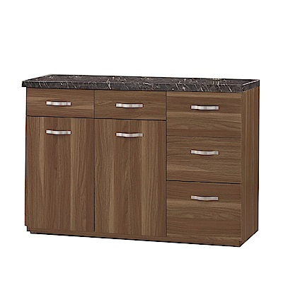 品家居 洛伊絲3.9尺石面餐櫃下座-117.5x41.5x82.5cm免組