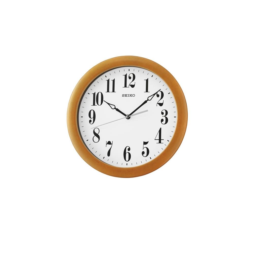 SEIKO 精工 木質掛鐘 時鐘(QXA674B)-淺咖啡色框/28cm