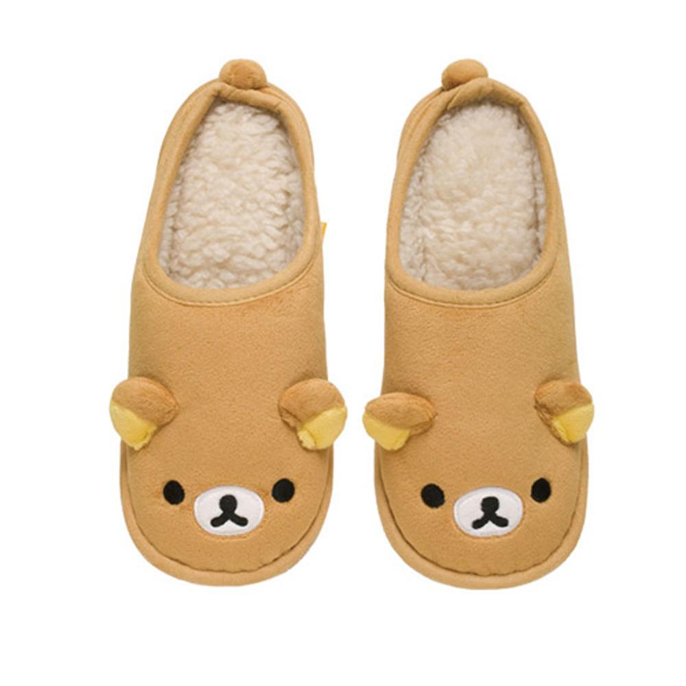 拉拉熊冬季保暖系列毛絨保暖室內鞋。懶熊