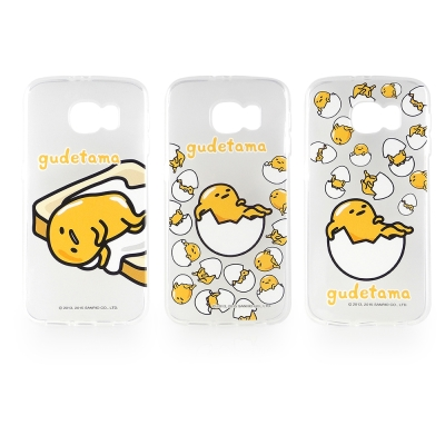 Sanrio Samsung Galaxy S6 蛋黃哥彩繪保護軟套-懶懶系列