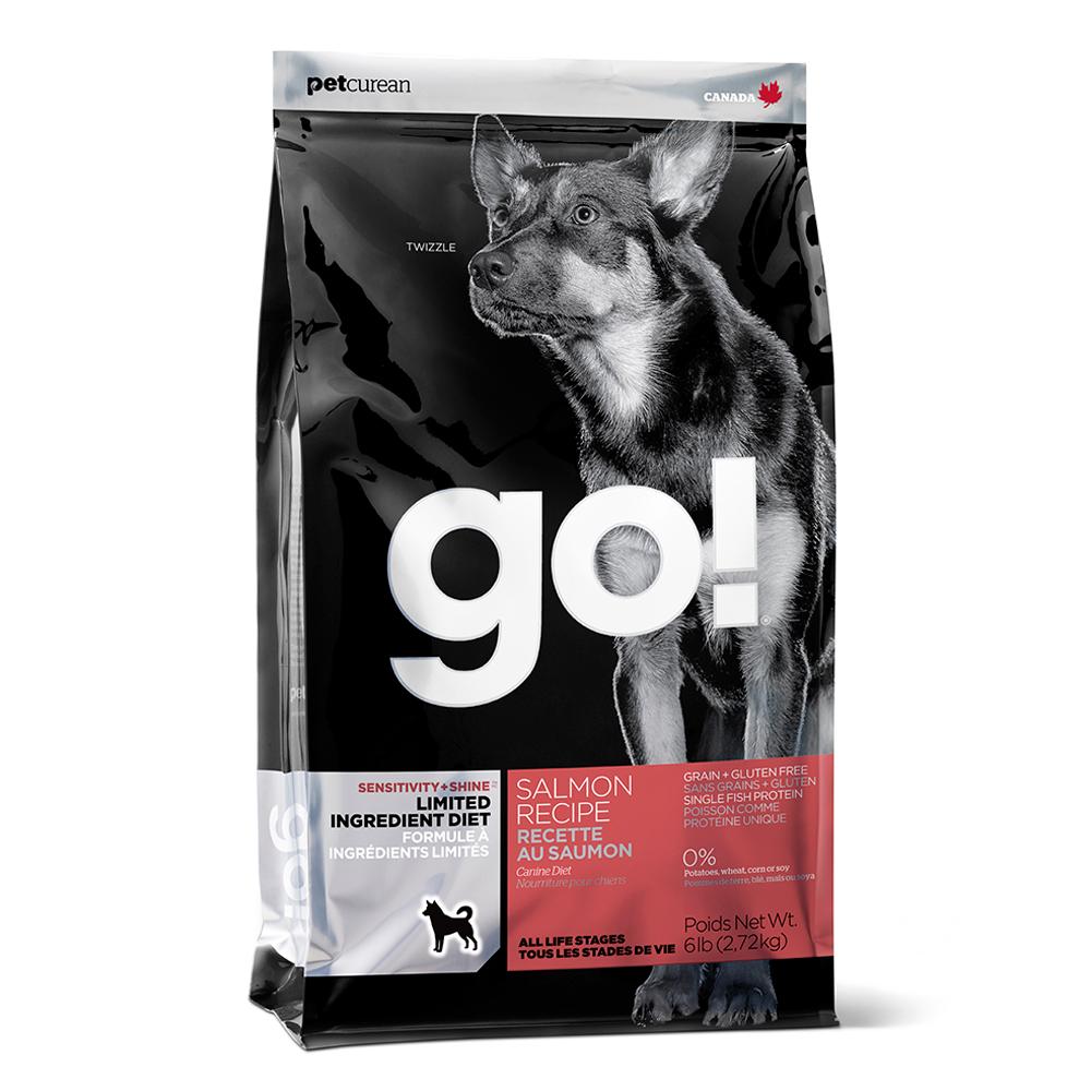 Go! 低致敏鮭魚無穀全犬配方 6磅兩件優惠組