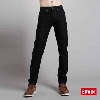 EDWIN-大尺碼-503ZERO雷射中直筒保溫褲-男款-黑色