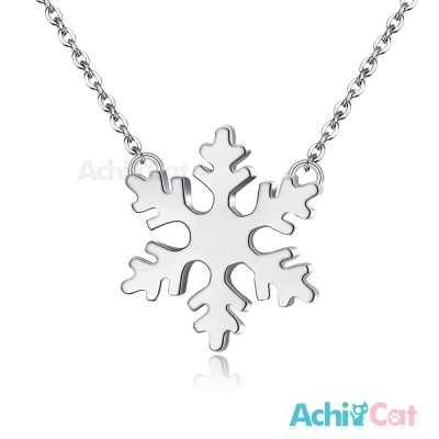 AchiCat 珠寶白鋼項鍊 簡愛 雪花(銀色)