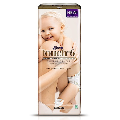 麗貝樂 Touch嬰兒紙尿褲6號(XL-40片)