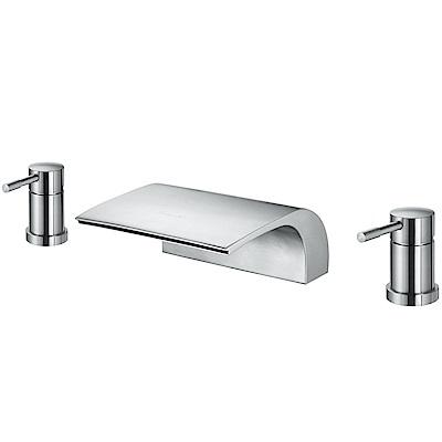 BOSS  D-9023不鏽鋼浴缸龍頭(三件式)