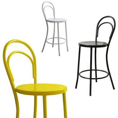 YOI傢俱 工業風金屬材質 烏托高腳椅-黑黃白3色 YRD-006H