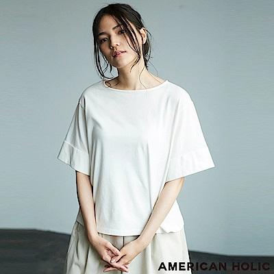AMERICAN HOLIC 反折袖口寬版上衣