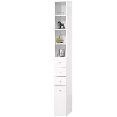 米妮Mini 小細縫/抽屜收納櫃組-白色